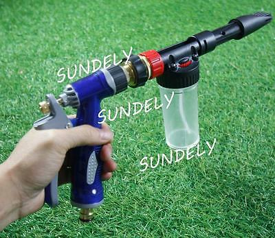 New Portable Snow Foam Car Wash Spray Gun Lance Uses Hose Pipe Red Volume 100 ML