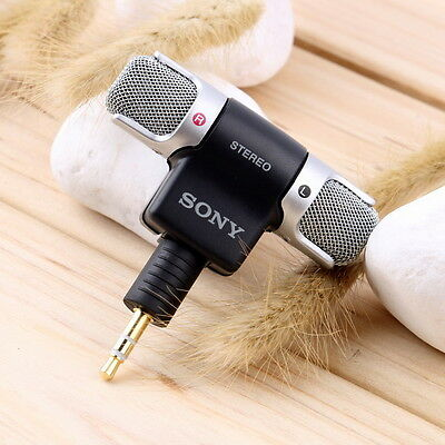 Mini Stereo sony Microphone Mic 3.5mm Mini Jack PC Laptop Notebook zu