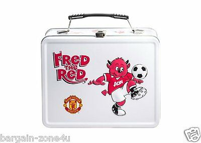 Manchester United Fred the Red Boys Football Tin Lunchbox Lunch Bags School Meal