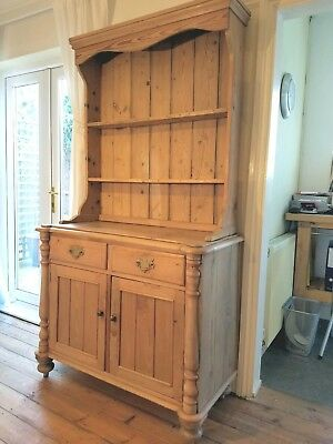 Vintage welsh dresser, stripped pine