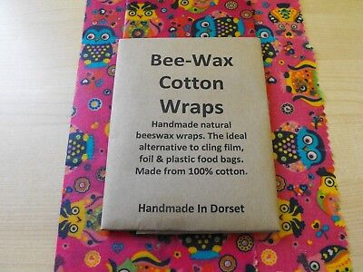 Beeswax Wraps Natural Eco food wraps that fit your family's lifestyle 30 x 27cm