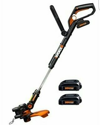 WORX WG169E.2 20 V 2 Ah Lithium-Ion Cordless Grass Trimmer with 2 Battery Packs*