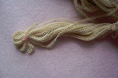 Antique Vtg Early Late 1800's early 1900's Cotton TINY PICOT BRAID  1 yard