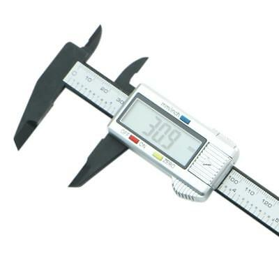 "150mm 6"" LCD Digital Electronic Carbon Fiber Vernier Caliper Micrometer Gauge"