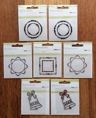 7 packs of RHINESTONES: VARIOUS DESIGNS, Kaisercraft