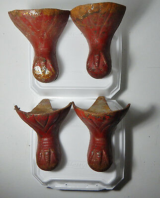 Antique? Victorian Set of 4 Ball Eagle Claw Foot Bathtub Tub Feet? Cast Iron