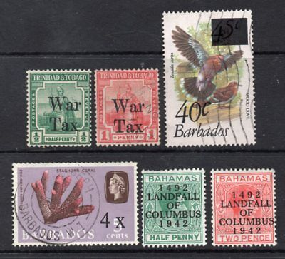 Caribbean: A Selection of 6-Overprint Issues Between 1918 & 1981(Reduced Post)