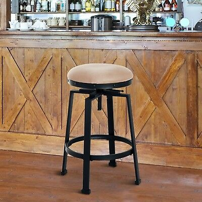 Incredible Industrial Metal Design Adjustable Height Padded Swivel Seat Gamerscity Chair Design For Home Gamerscityorg
