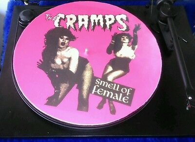 """THE CRAMPS smell of female slipmat patinador turntable mat 12"""" LP Improve sound"""