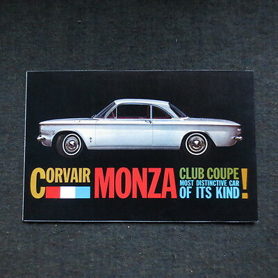 1960 Corvair Monza brochure fold out nice
