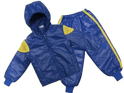 Childs Waterproof Jacket & Trousers Rainsuit Kids Childrens Boys Girls 18M-2YRS