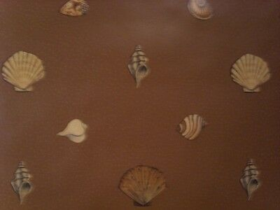 FREE SHIPPING  aquatic brownish orange sea shell on brown wallpaper