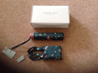 Radley Ladies Green Umbrella And Matching Shopper Bag Brand New In Radley Box