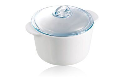 Pyrex Pyroflam -Vitro-ceramic Round Casserole  with Glass Lid  Cookware