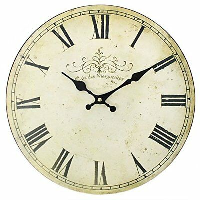 New Extra Large Round Wooden Wall Clock Vintage Retro Antique High Quality UK