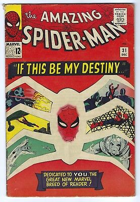 The Amazing Spider-Man #31 Dec 1965, Marvel 1st Gwen Stacy Key Comic Book 5.5 FN