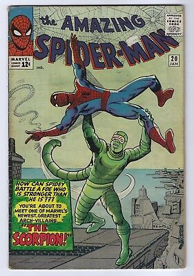 The Amazing Spider-Man #20 1st Appearance Scorpion Marvel Silver Age 5.0 VG/FN