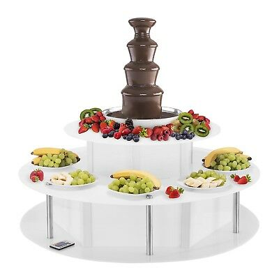 Chocolate Fountain Luminous Base Set 4 Tiers Party Catering Fondue Set New