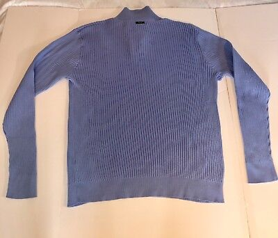 Nautica Ribbed Sweater/Pullover 1/4 Zip and Button Men's Size 2XL EUC