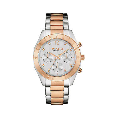 Caravelle New York Women's 45L156 Quartz Crystal Chronograph Two-Tone 36mm Watch