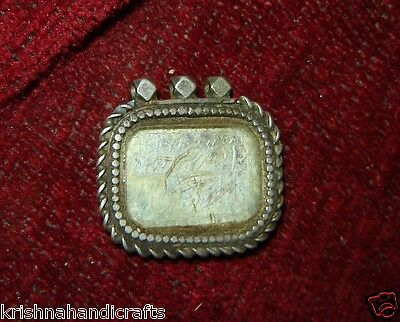 Vintage Antique Very Rare Islamic Silver Pendent With Islamic Writing