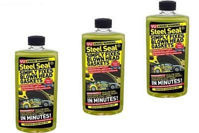 3 x Steel Seal Repairs Fix Blown Head Gasket & Blocks - For 4.0L Engines & Above