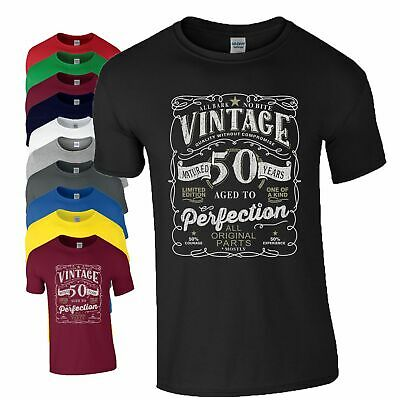 50th Birthday Gift T Shirt Made In 1968 Original Parts 50 Years Mens Ladies Top
