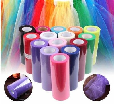 "TULLE ROLLS - 100 Yards Long x 6"" Wide - Tutu, Wedding Fabric, Craft Netting"