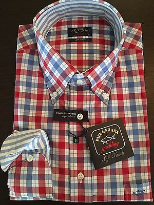 Paul & Shark Shirt Camicia 41 42 43 44 47  L XL 3XL Soft Touch