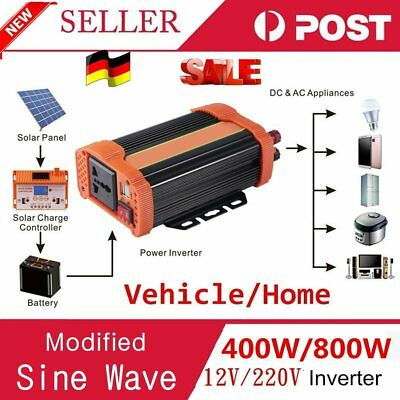 400W Car Power Inverter DC12V to AC220V Modified Charger Power Converter GE