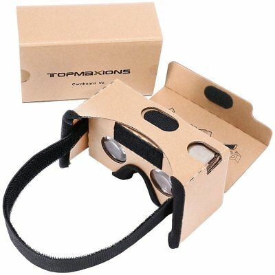 Google Cardboard,Topmaxions 3D VR Virtual Reality DIY VR Headset For 3D Movies