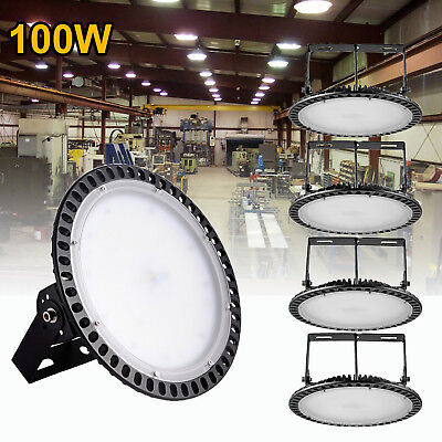 5X 100W Ultra-Thin UFO LED High Bay Light Warehouse Factory Commercial Fixture