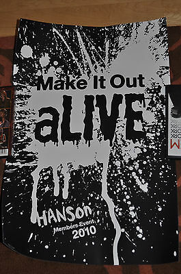 *RARE* Hanson 2010 Members Event Make It Out Alive glow in the dark poster!
