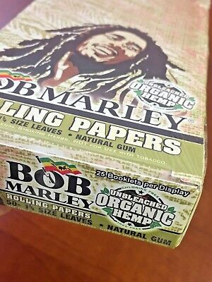 Newly Released Bob Marley **organic** 1 1/4 Rolling Paper 25 Packs 50/pk