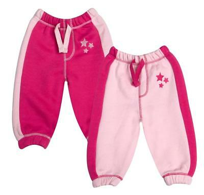 Baby town Baby Girls Fleece Jog Pants with stars