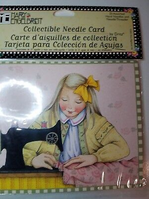 Mary Engelbreit Collectible Needle Card 25 Assorted Hand Needles Threader Sewing