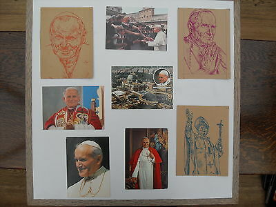 Pope John Paul II - a collection of 8 postcards