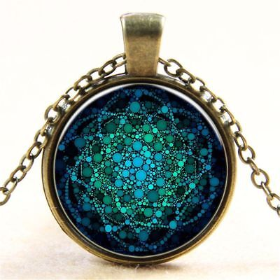 Glass Lover Gifts Necklace Mandala Pendant Flower Of Life Necklace Jewelry