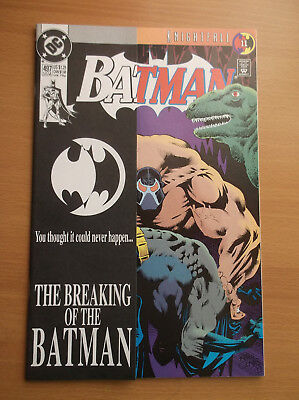 Dc: Batman #497, Bane Breaks Batman's Back, Key Issue, Hit Movie, 1993, Nm (9.4)