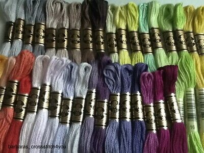7  Dmc Cross Stitch Skeins/threads  Free Post Pick Your Own Colors