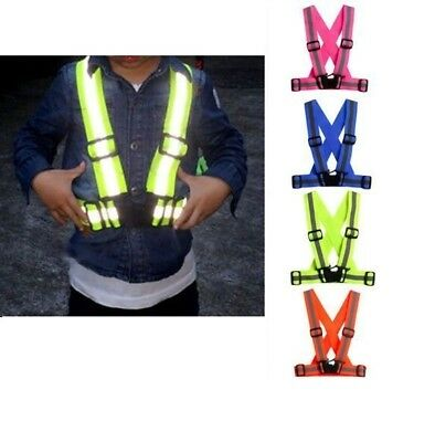 Hi Viz Vest High Vis Safety Visibility Waistcoat Jacket Reflective Belt Kids