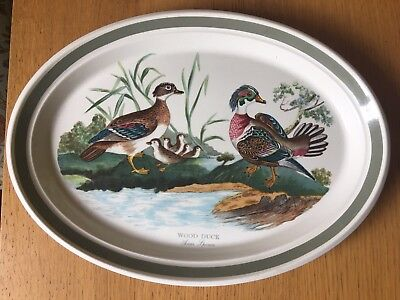 PORTMEIRION BIRDS OF BRITAIN 13 INCH DISH Wood Duck - LONG DISCONTINUED