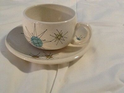 Franciscan Vintage 1950's Starburst cup and saucer set of 4