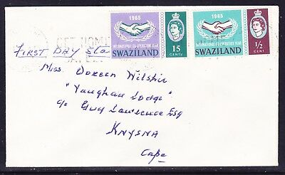 Swaziland 1965 International Co-op Years Private First Day Cover Addressed