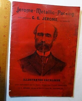 x RARE Illustrated Catalog  Jerome Inventor Metallic Packing Railroad 1890s RR