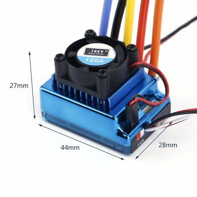 120A ESC Sensored Brushless Speed Controller For 1/8 1/10 Car/Truck Crawler XL