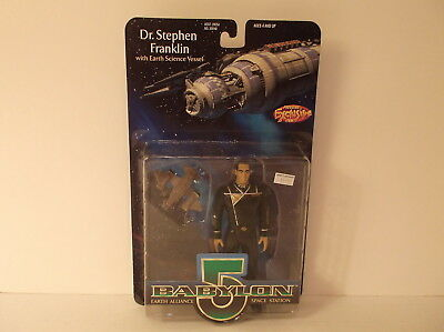 1997 WB Toy Babylon 5 Dr. Stephen Franklin with Science Vessel Action Figure MIP