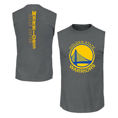 Youths Golden State Warriors Outerstuff NBA Ultra Muscle Tank - Charcoal