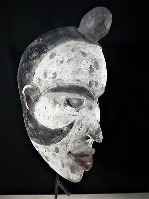 Old Tribal Ba Congo Mask D R Congo Fes-GB1157/GBN7