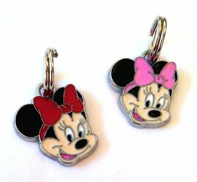 Minnie Mouse ZIPPER PULL-pink or red Enamel charm strong ring US SellerFREE SHIP